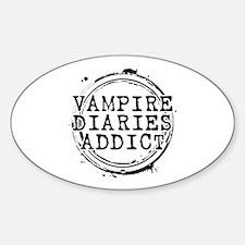 Vampire Diaries Addict Oval Decal