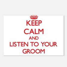 Keep Calm and Listen to your Groom Postcards (Pack