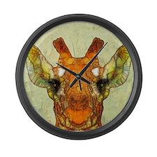 Unique Giraffe Large Wall Clock
