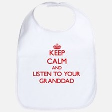 Keep Calm and Listen to your Granddad Bib