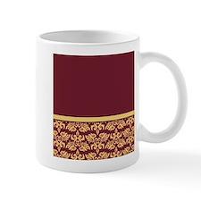 Damask Wallpaper Red Small Mug