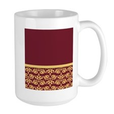 Damask Wallpaper Red Mug