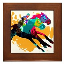Horse Racing Framed Tile