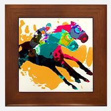 Horse Racing Framed Tile