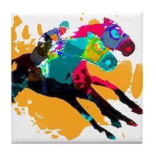 Horse Racing Tile Coaster