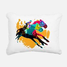 Horse Racing Rectangular Canvas Pillow