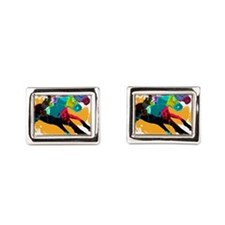 Horse Racing Rectangular Cufflinks