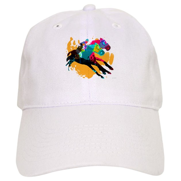Horse Racing Baseball Cap by OneStopPonyShop