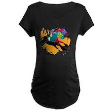 Horse Racing Maternity T-Shirt