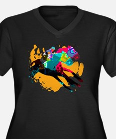 Horse Racing Plus Size T-Shirt