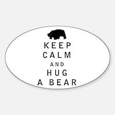 Keep Calm and Hug a Bear Decal