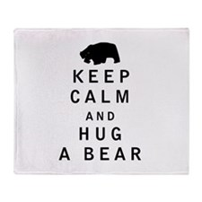 Keep Calm and Hug a Bear Throw Blanket
