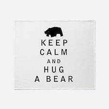 Keep Calm and Hug a Bear Throw Blanket