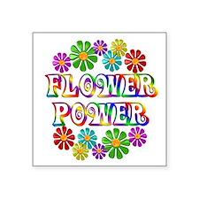 """Cute Flowerpower Square Sticker 3"""" x 3"""""""