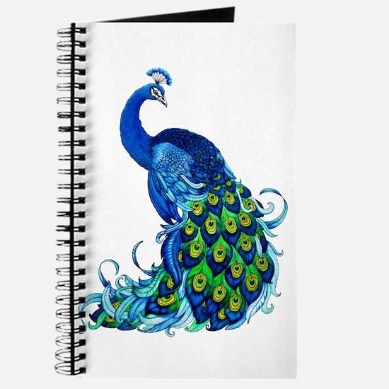 Beautiful Blue Peacock Journal