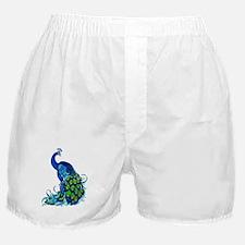 Beautiful Blue Peacock Boxer Shorts
