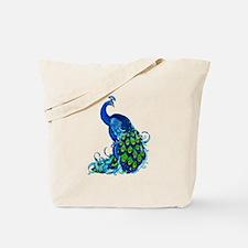 Beautiful Blue Peacock Tote Bag