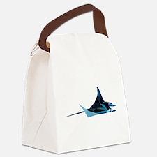 vector graphic polygon art manta Canvas Lunch Bag