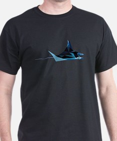 vector graphic polygon art manta T-Shirt