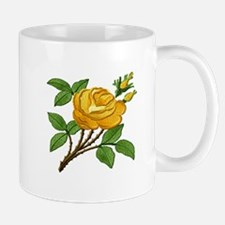 Needlework Yellow Rose Mug