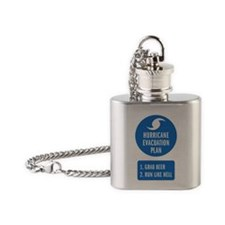 Hurricane Evacuation Plan.png Flask Necklace
