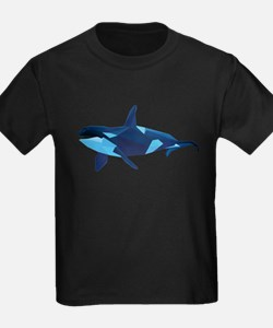 vector graphic polygon art orca T-Shirt