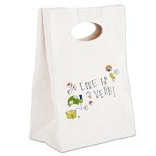 Love is a Verb Canvas Lunch Tote