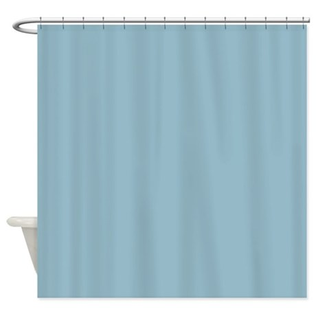 Solid Baby Blue Hower Shower Curtain