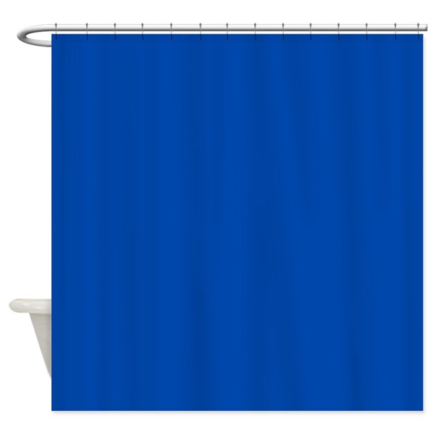 Solid Cobalt Blue Shower Curtain by TheShowerCurtain