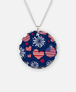 4th of July Pattern Necklace