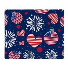 4th of July Pattern Throw Blanket