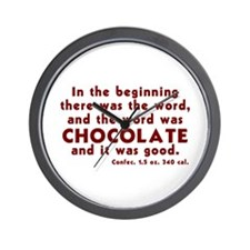 Chocolate Word Wall Clock