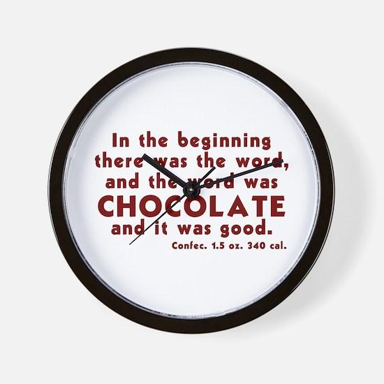 Chocolate Word Wall Clock