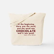 Chocolate Word Tote Bag