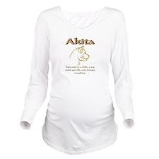 Akita Long Sleeve Maternity T-Shirt