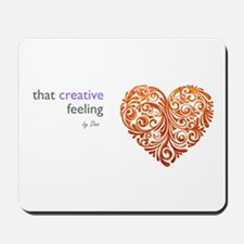 That Creative Feeling logo Mousepad