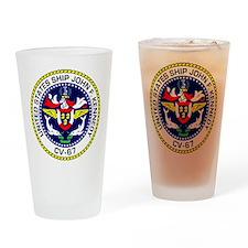 USS John F. Kennedy CV-67 Drinking Glass