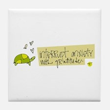 Try Gratitude Instead Tile Coaster