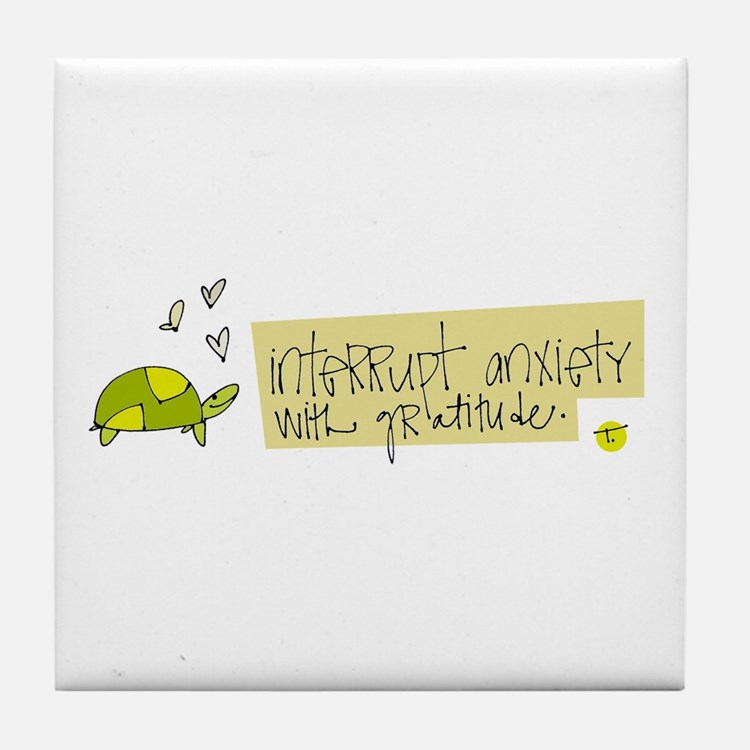 Try Gratitude Instead Tile Coaster