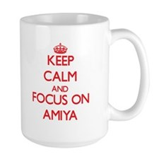 Keep Calm and focus on Amiya Mugs