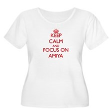 Keep Calm and focus on Amiya Plus Size T-Shirt