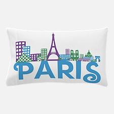 Cute Paris skyline Pillow Case