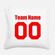 Team Square Canvas Pillow