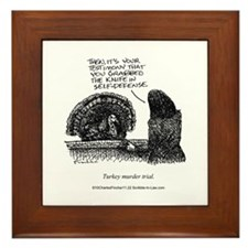 Turkey Murder Trial Framed Tile