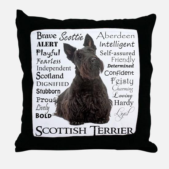 Scottie Traits Throw Pillow