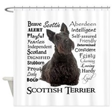 Scottie Traits Shower Curtain