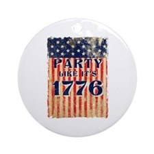 Party Like It's 1776 Round Ornament