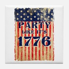 Party Like It's 1776 Tile Coaster