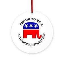 Proud California Republican Ornament (Round)