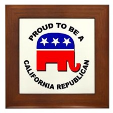 Proud California Republican Framed Tile